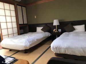 和室のツインベッド