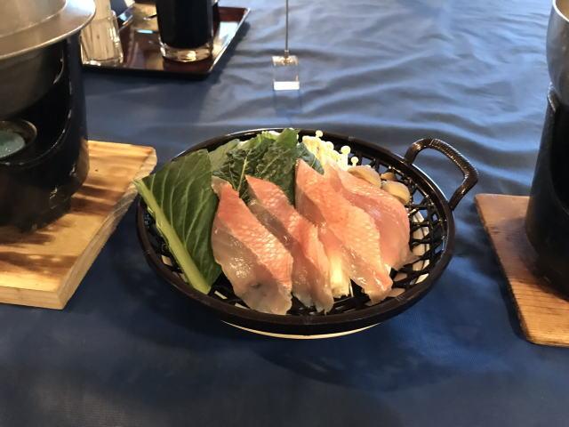 金目鯛の鍋物